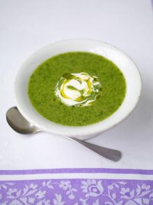 Summer pea and watercress soup
