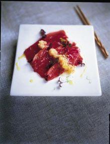 Tuna carpaccio - Japanese style