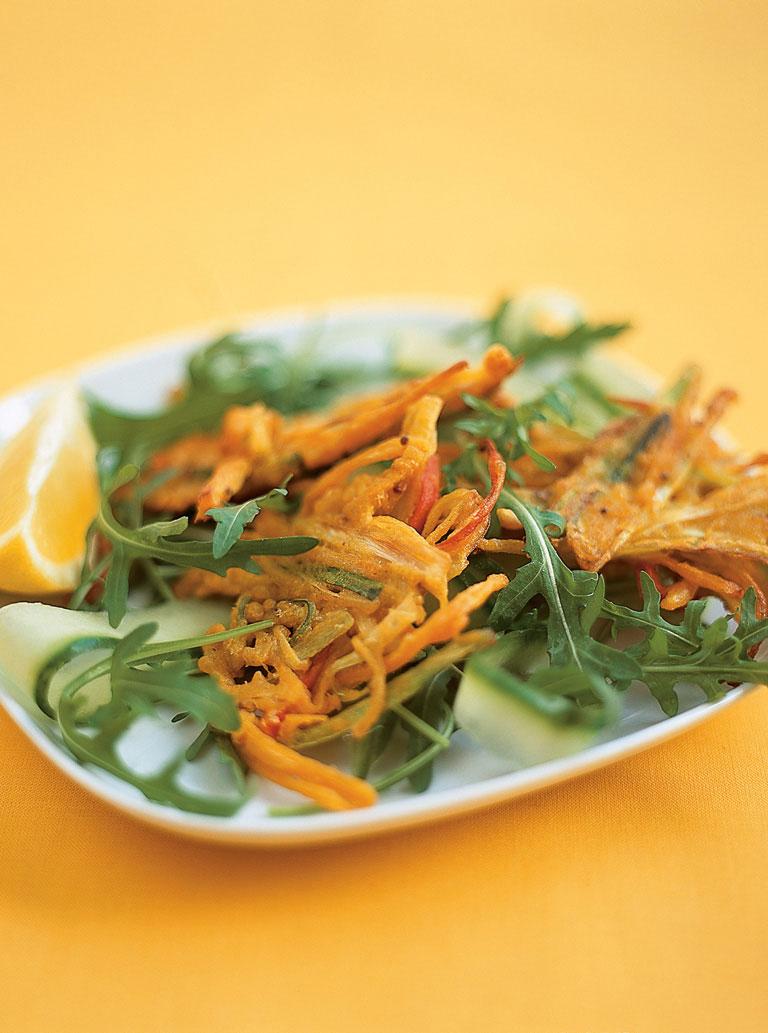 Onion Bhaji Salad