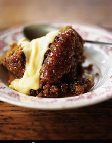 Quick steamed treacle pudding