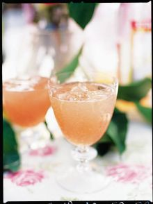 Pink grapefruit & vodka cooler