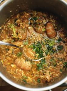 Cod, potato & spring onion stew
