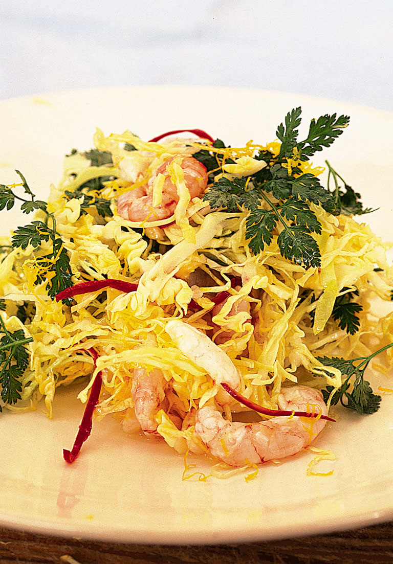 prawn and cabbage salad