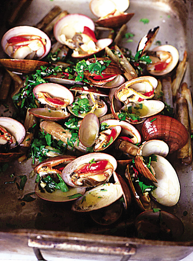 barbecued shellfish