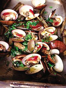 Beautiful smoky barbecued shellfish