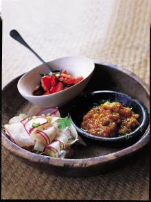 Radish and coriander pickle