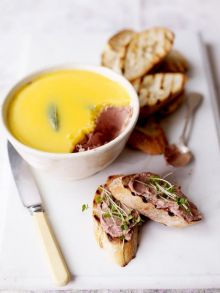 Old-school chicken liver parfait