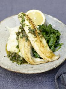 Little sole goujons with a quick lemon and caper sauce