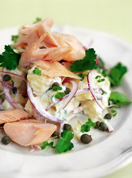 Smoked Trout Salad with Jersey Royal Potatoes