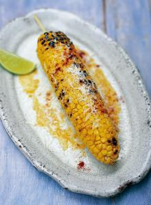 Mexican-style barbecued corn