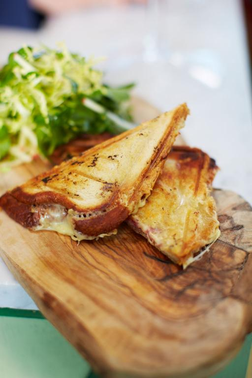 French cheese and ham toastie