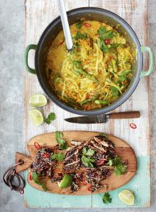 Thai chicken laksa