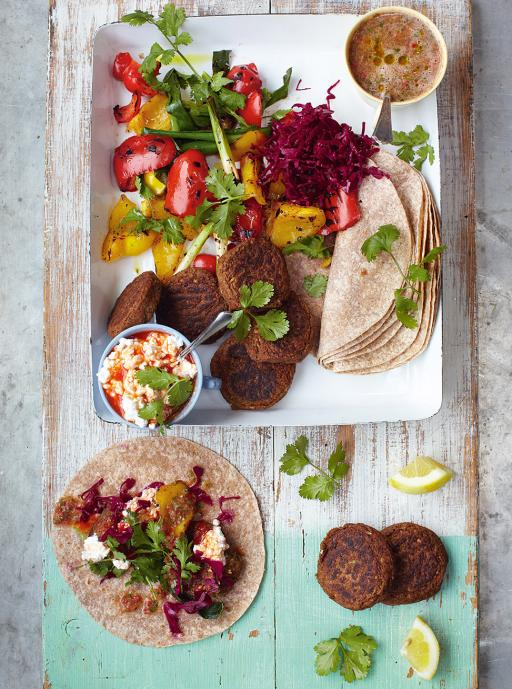 Falafel  with Grilled Veg & Salsa