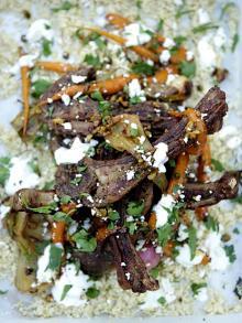Sizzling lamb chops scottadito