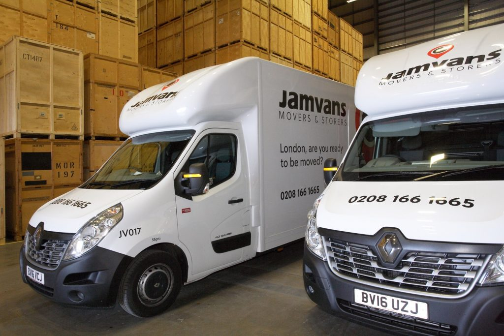 JamVans storage London and Hemel Hempstead