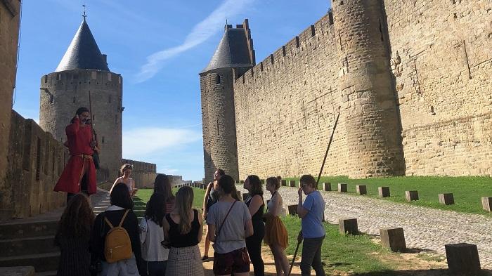 A Carcassonne avec un chevalier
