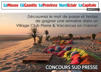 Concours Sud Presse V Pierre Vacances