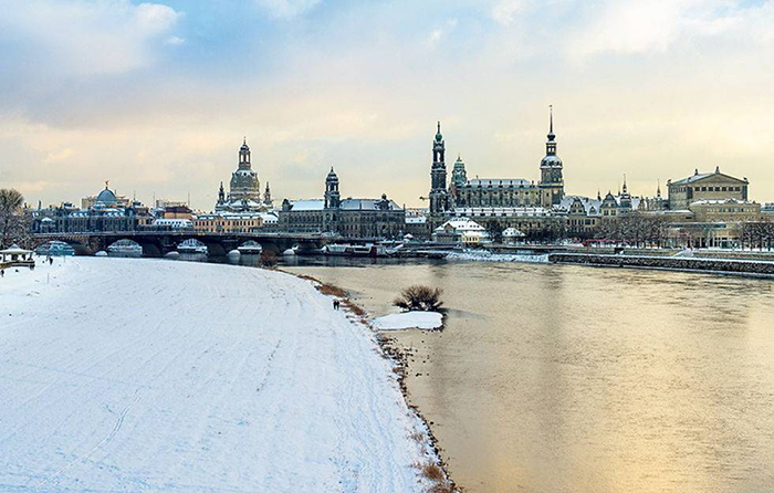 Dresde neige visites