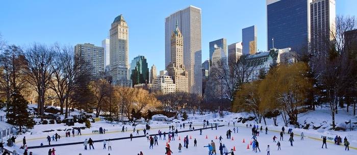 New York noel patinoire