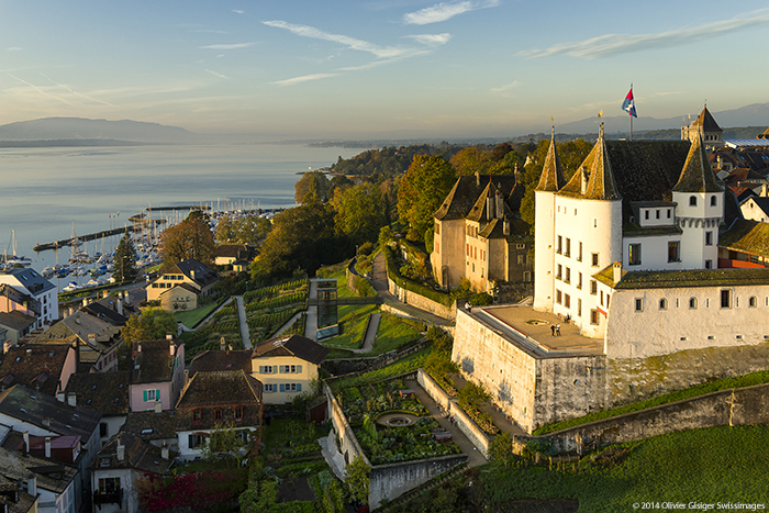 Suisse Canton Vaud Chateau Nyon