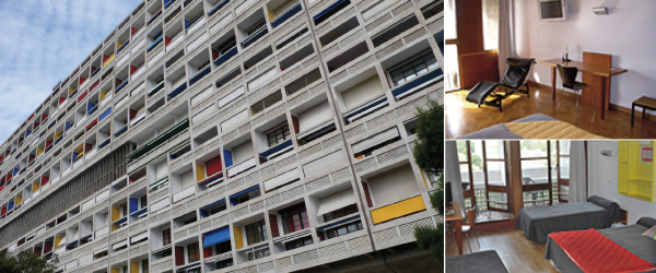 week end insolite marseille dans l 39 immeuble du corbusier. Black Bedroom Furniture Sets. Home Design Ideas