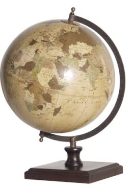 World Globe On Wooden Base