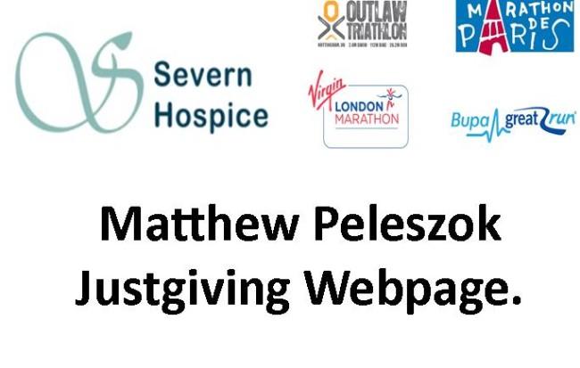 Matthew Peleszoks Just Giving