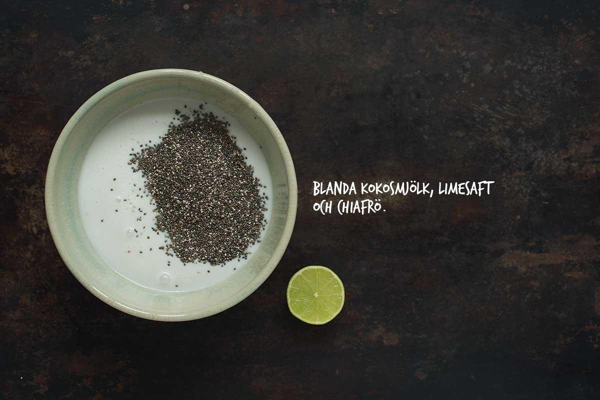 Recept: Chiagröt med kokosmjölk, hallon och granola | Frk. Kräsen