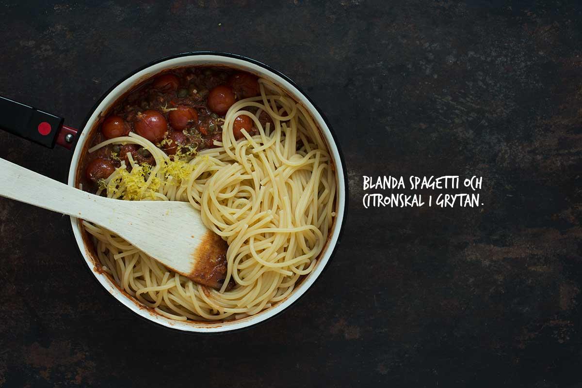 Recept: Spagetti alla puttanesca | Frk. Kræsen