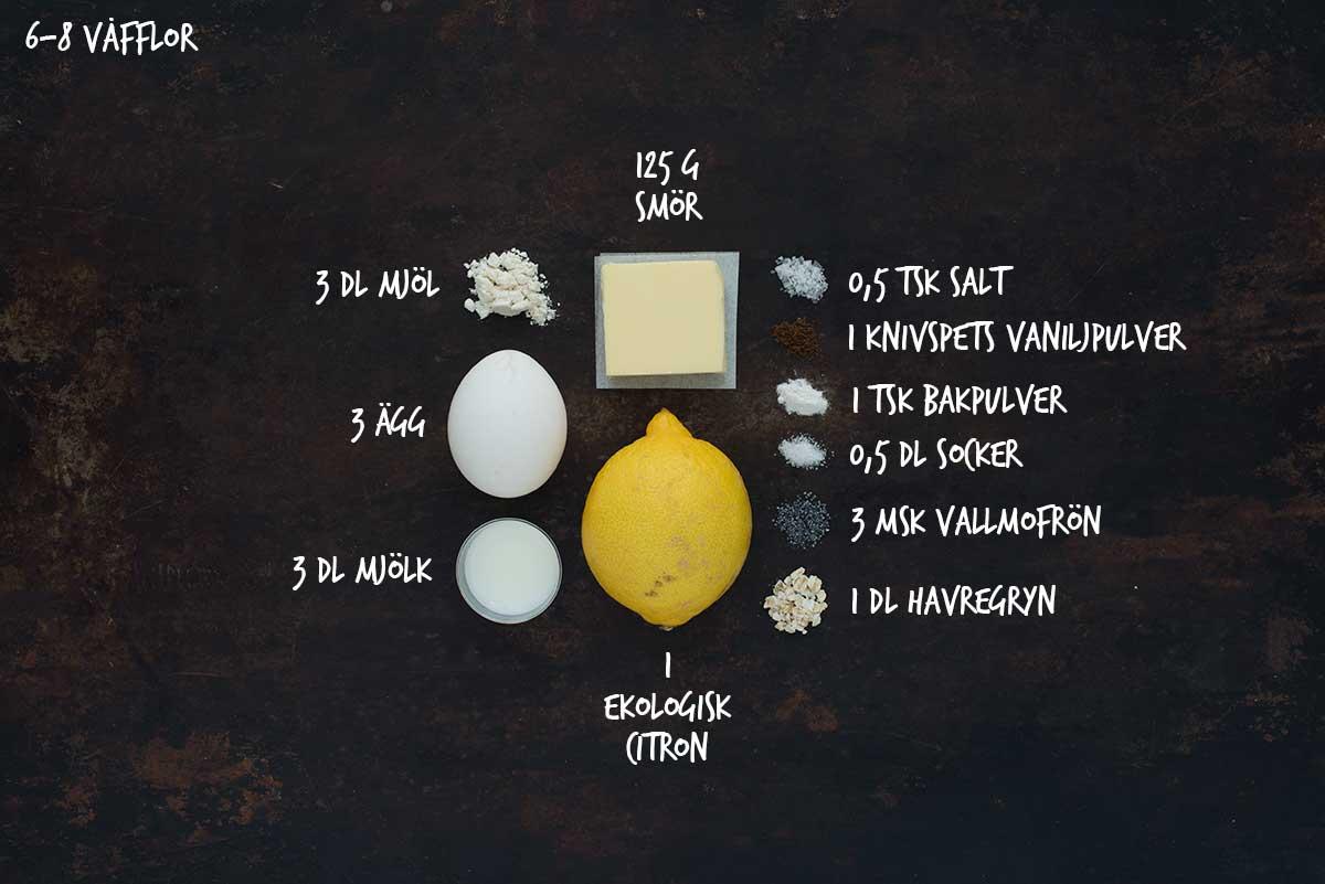 Recept: Våfflor med citron och vallmofrön | Frk. Kräsen