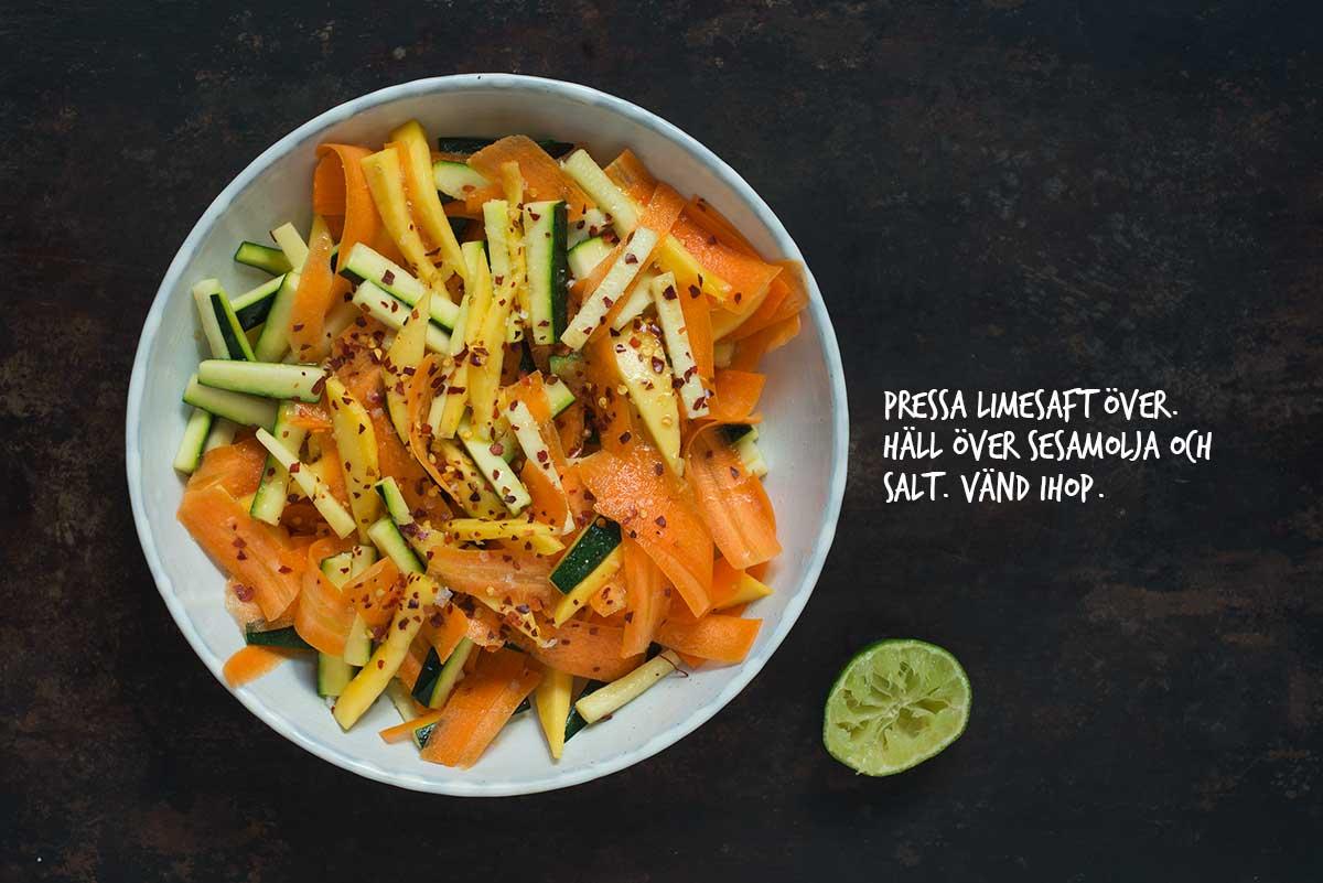 Recept: Sallad med squash och mango | Frk. Kräsen