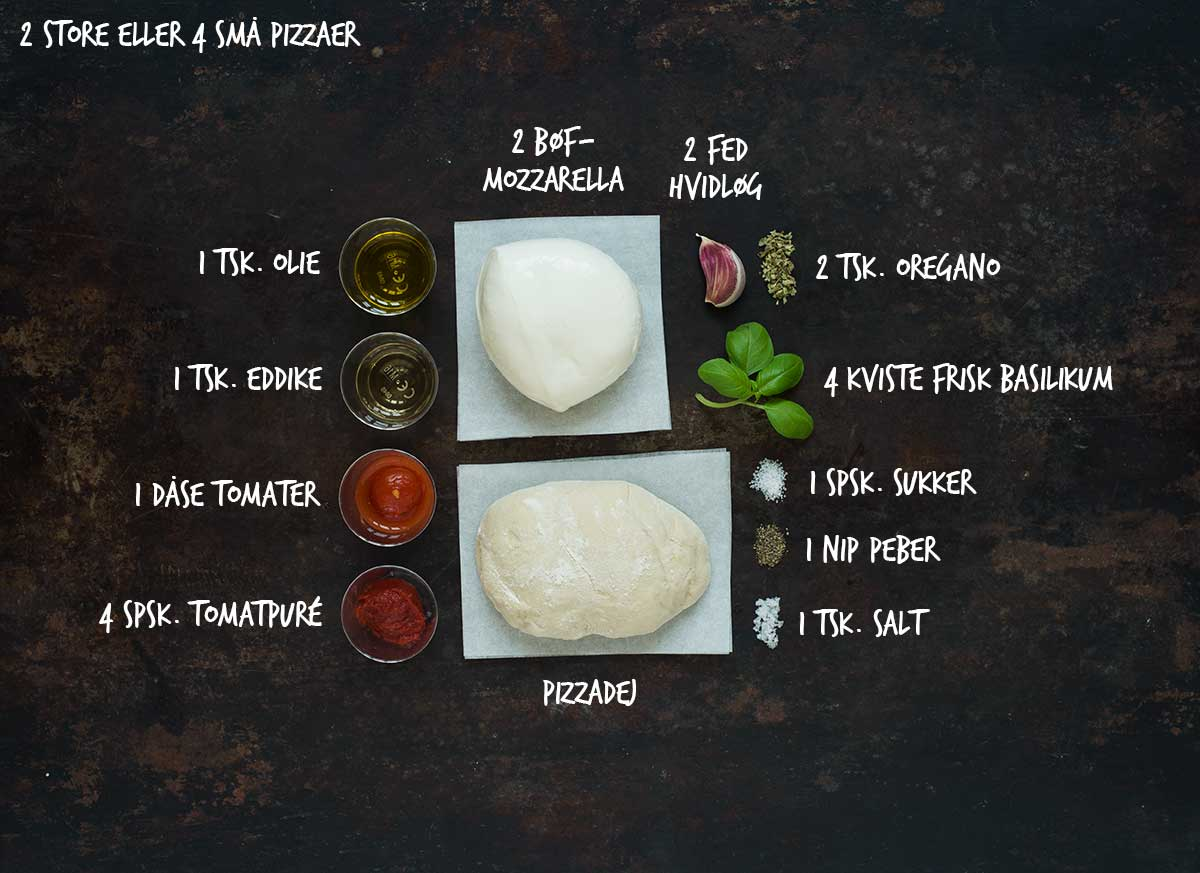 Recept: Pizza Margherita | Frk. Kräsen