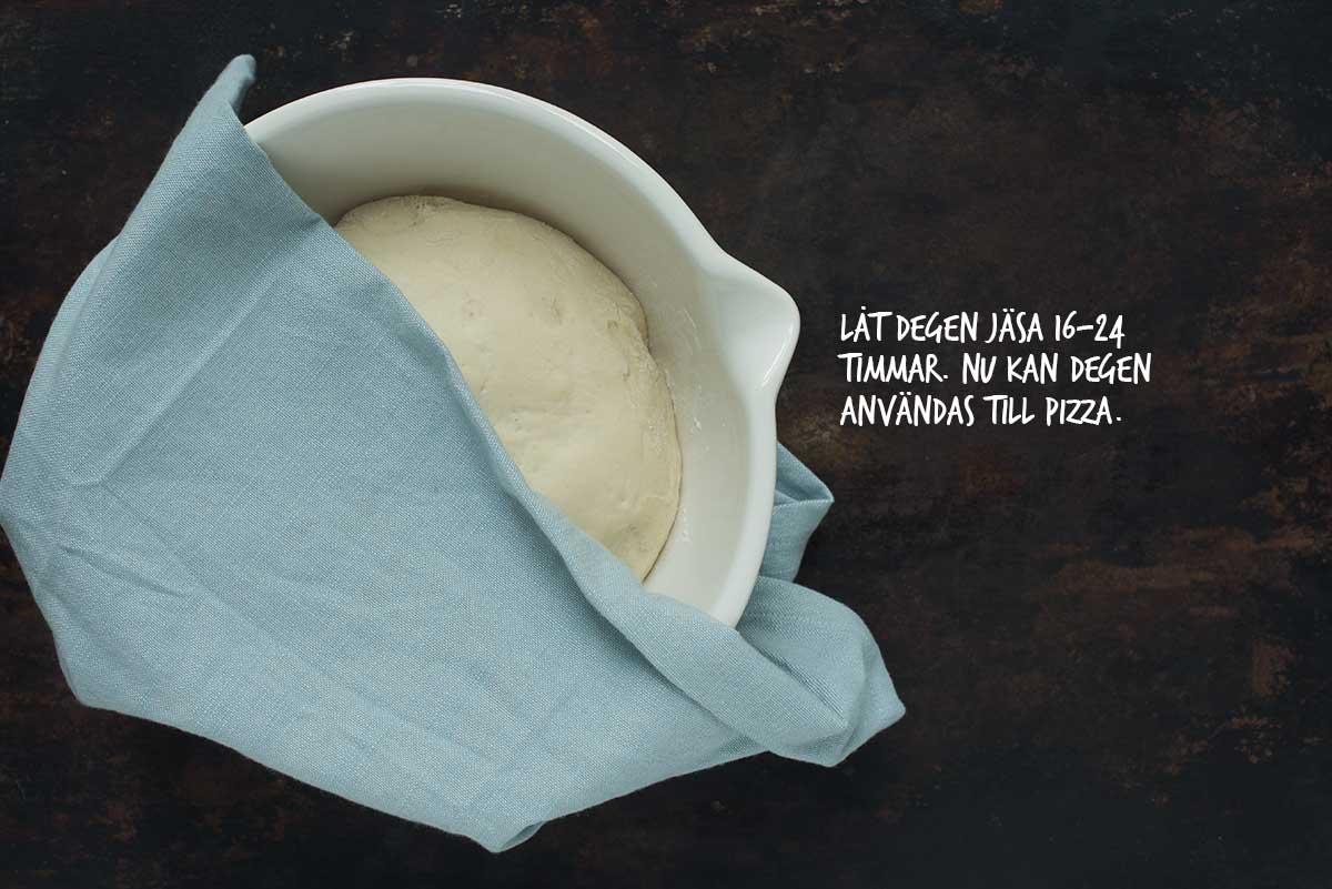 Recept: Kalljäst pizzadeg | Frk. Kräsen