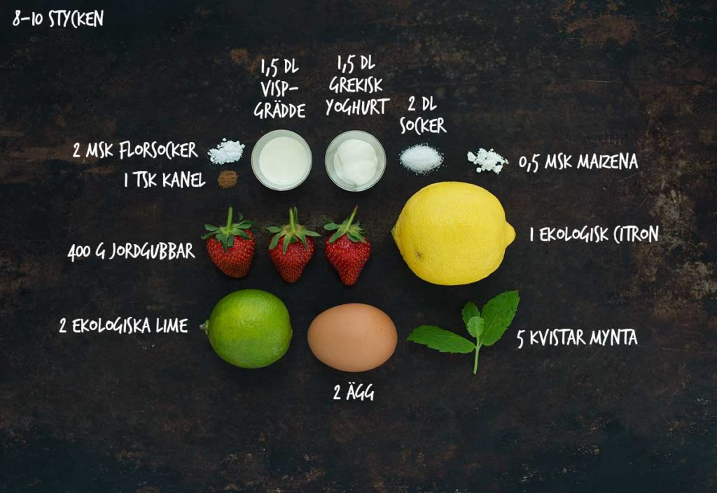 Recept: Mini-pavlova med jordgubbar och mynta | Frk. Kräsen