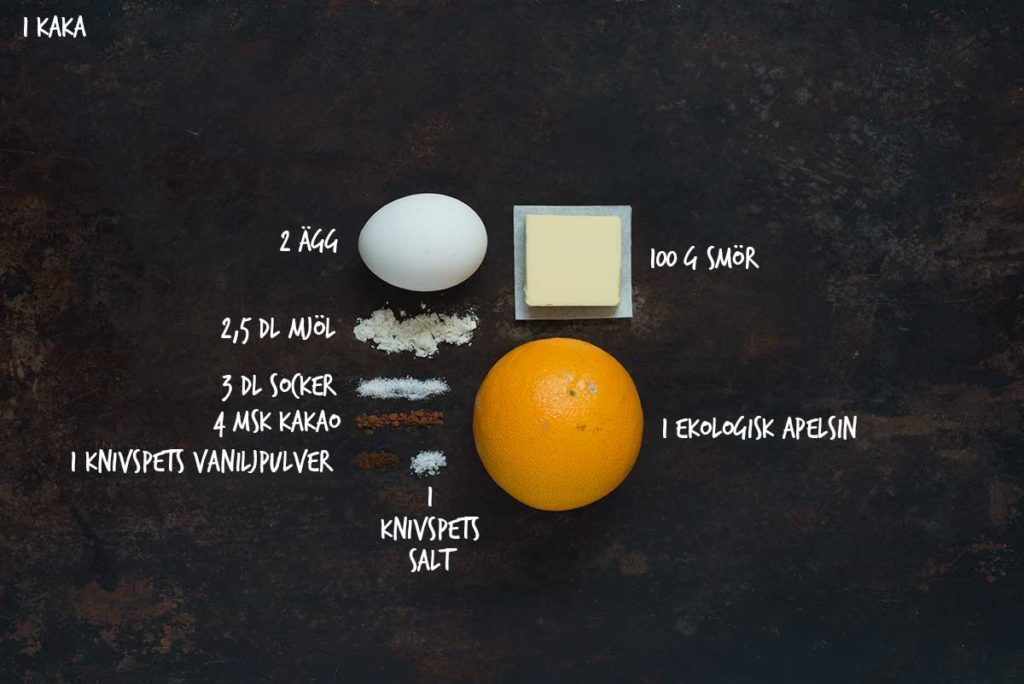 Recept: Kladdkaka med apelsin | Frk. Kräsen