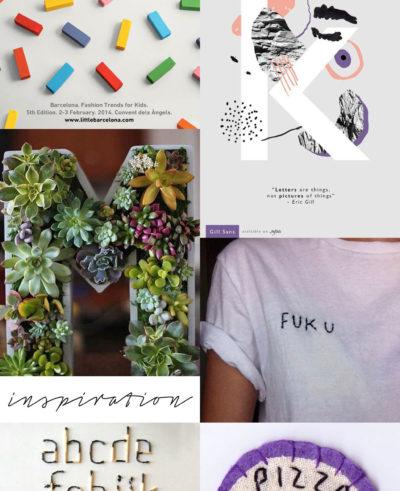 Inspiration Monthly Makers – Bokstäver och ord