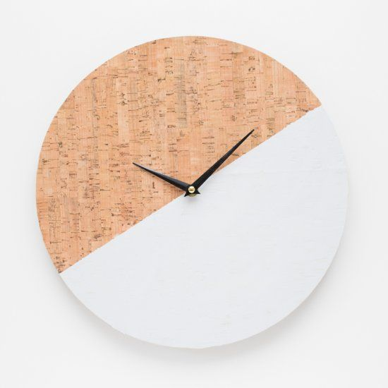 Cork clock by It's Pretty Nice
