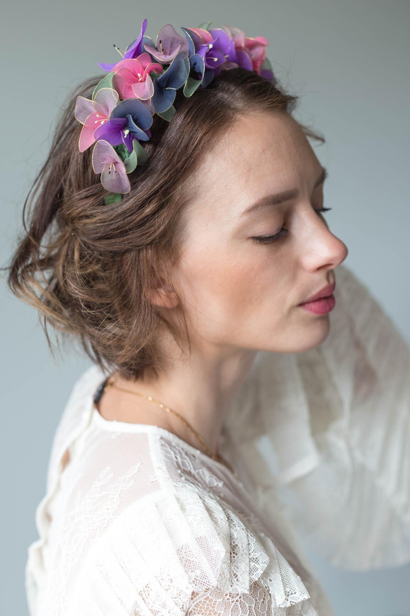 DIY Stocking Flower Crown | Dnilva