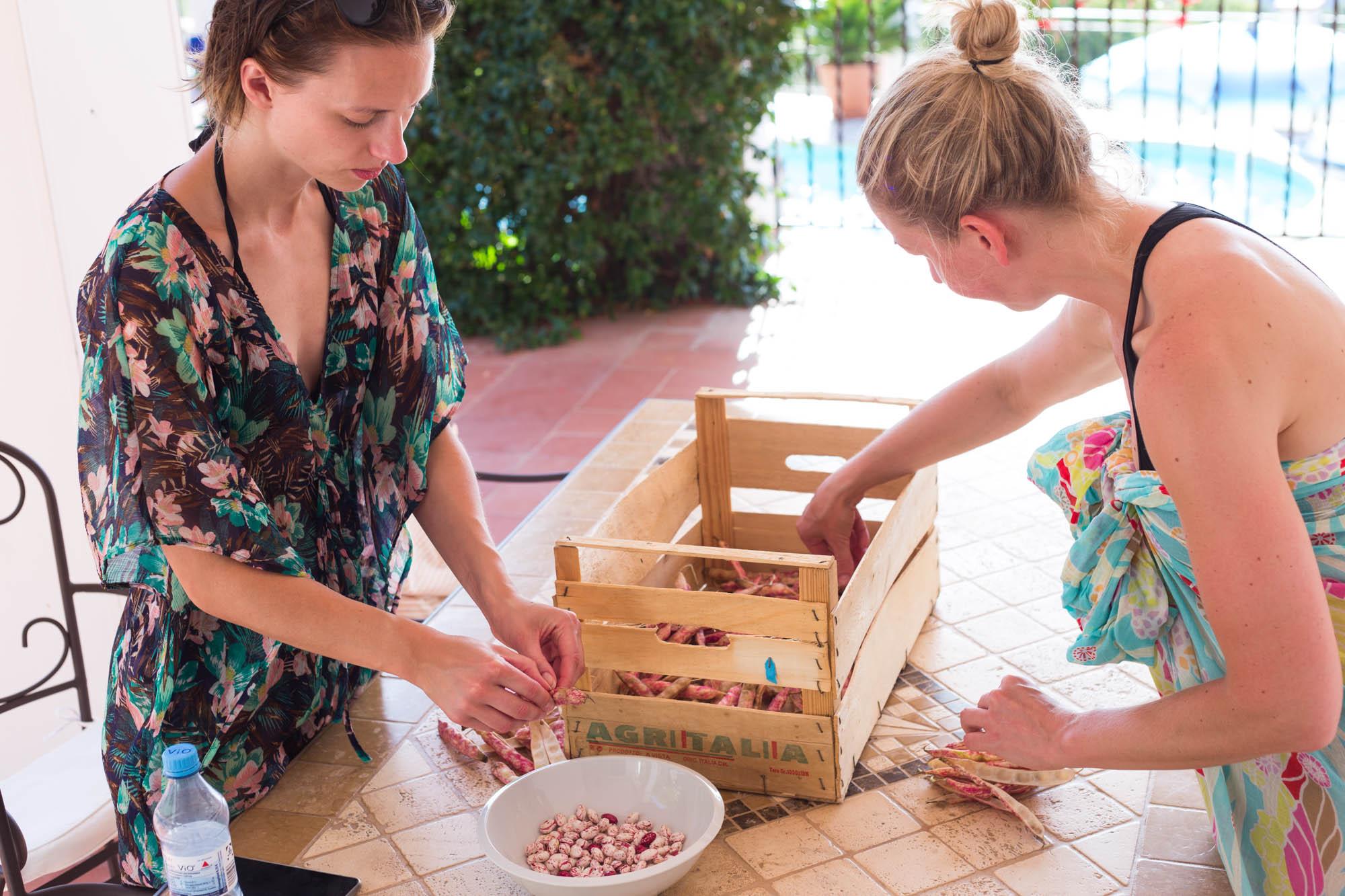Preparing Borlottibeans