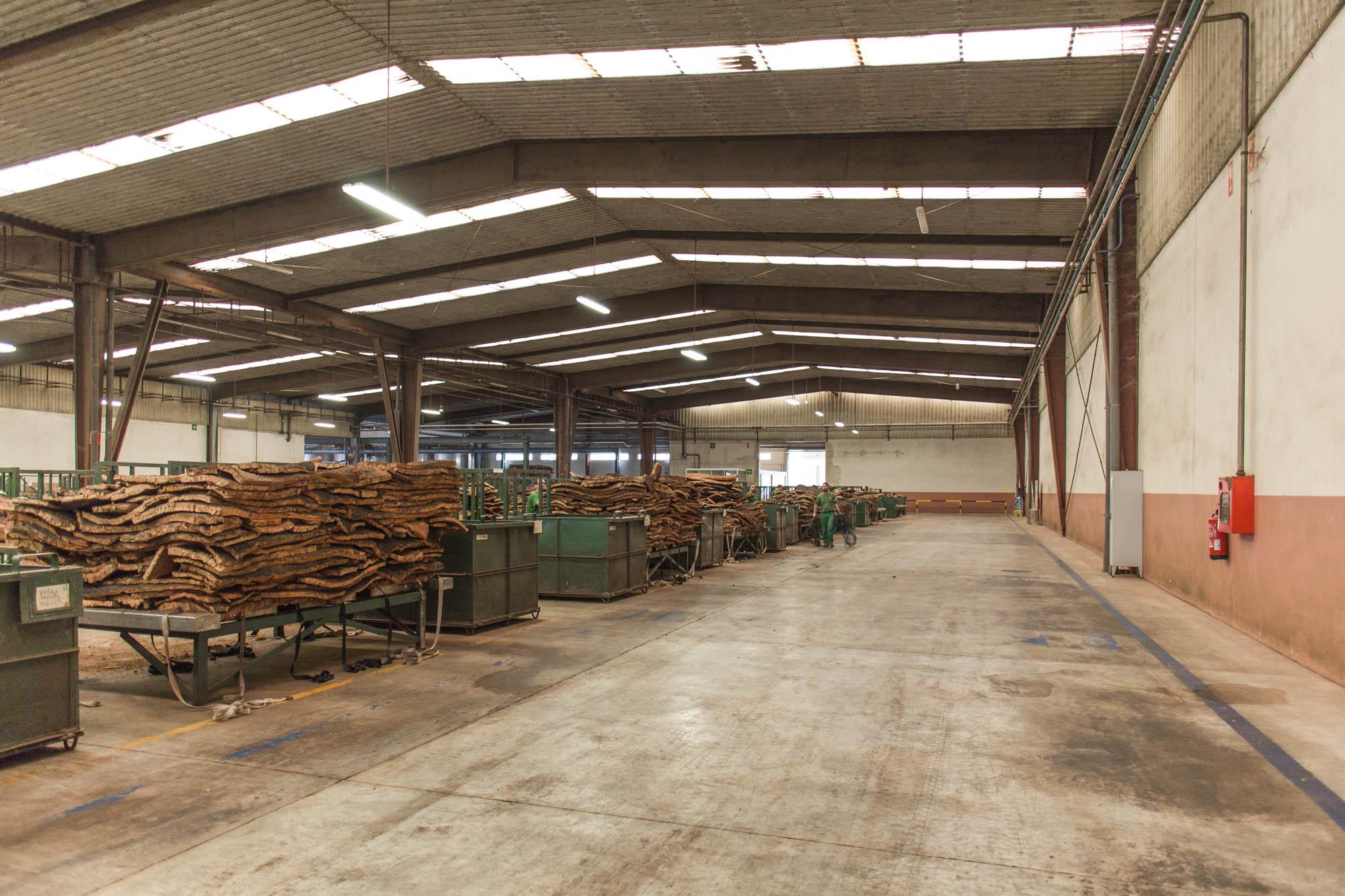 Korkfabrik i Portugal