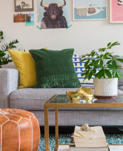 DIY Embossed Velvet Pillow by Dnilva