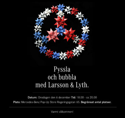 Pyssla och bubbla med Larsson och Lyth
