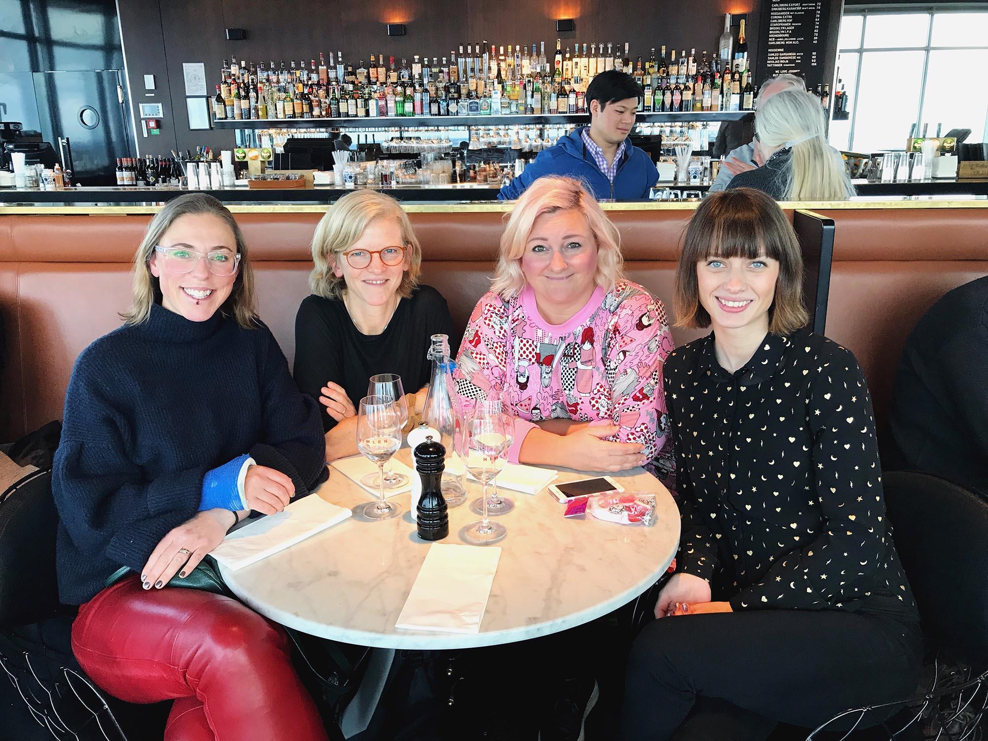 Kreativ lunch - Helena Lyth, Pysselbolaget, Kreativa Karin och Dnilva