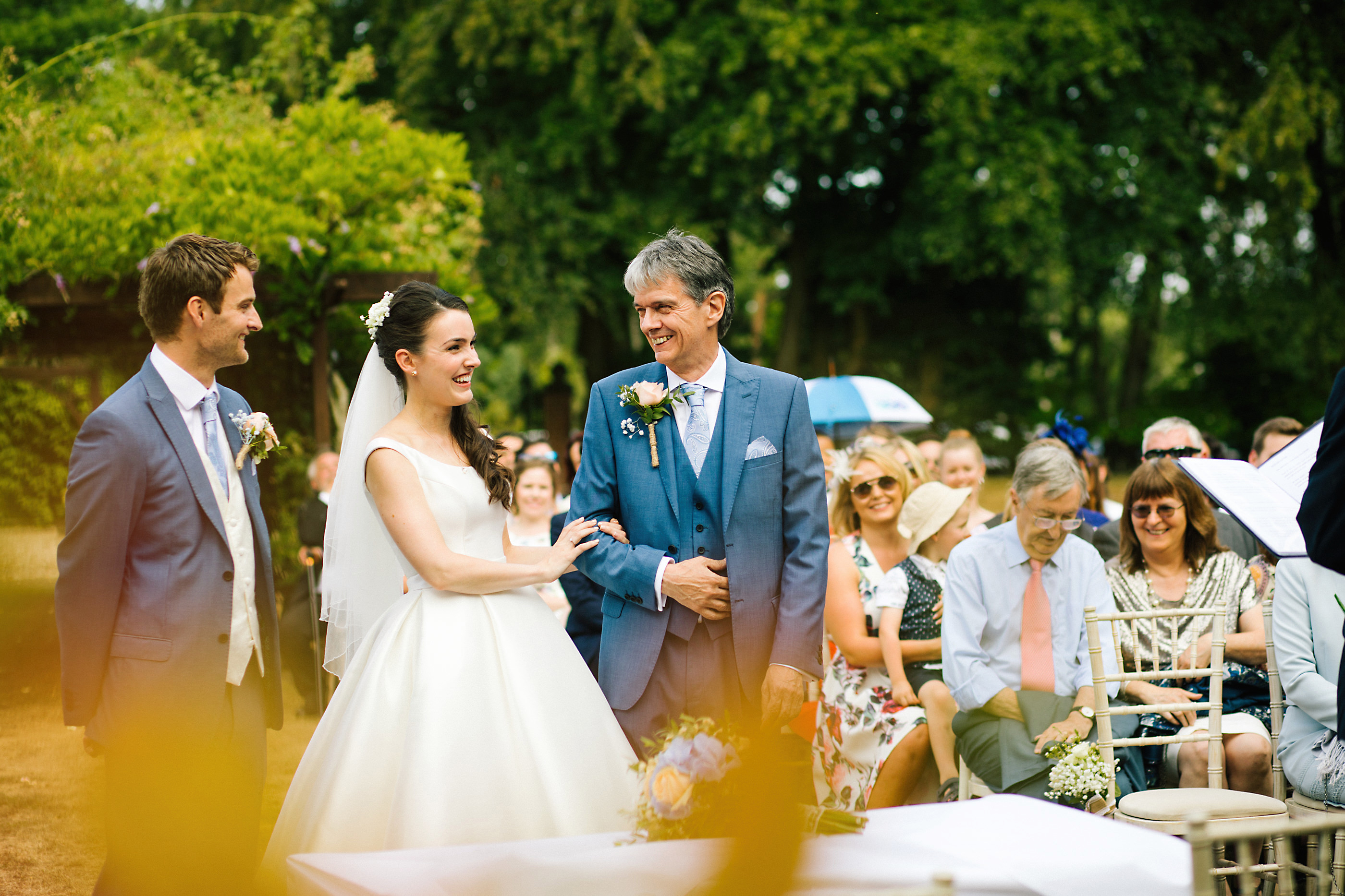nunsmere hall summer wedding