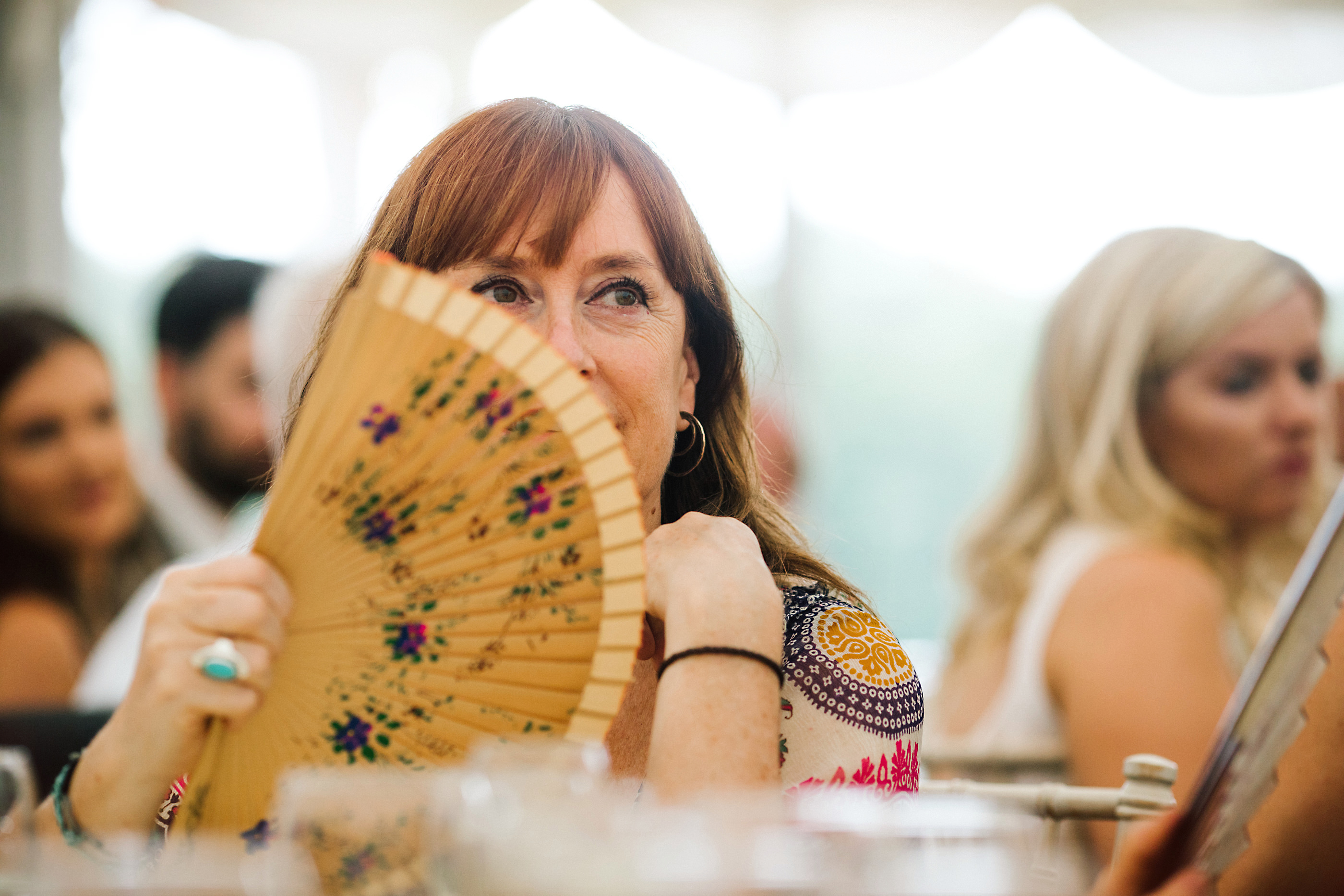 summer wedding fan
