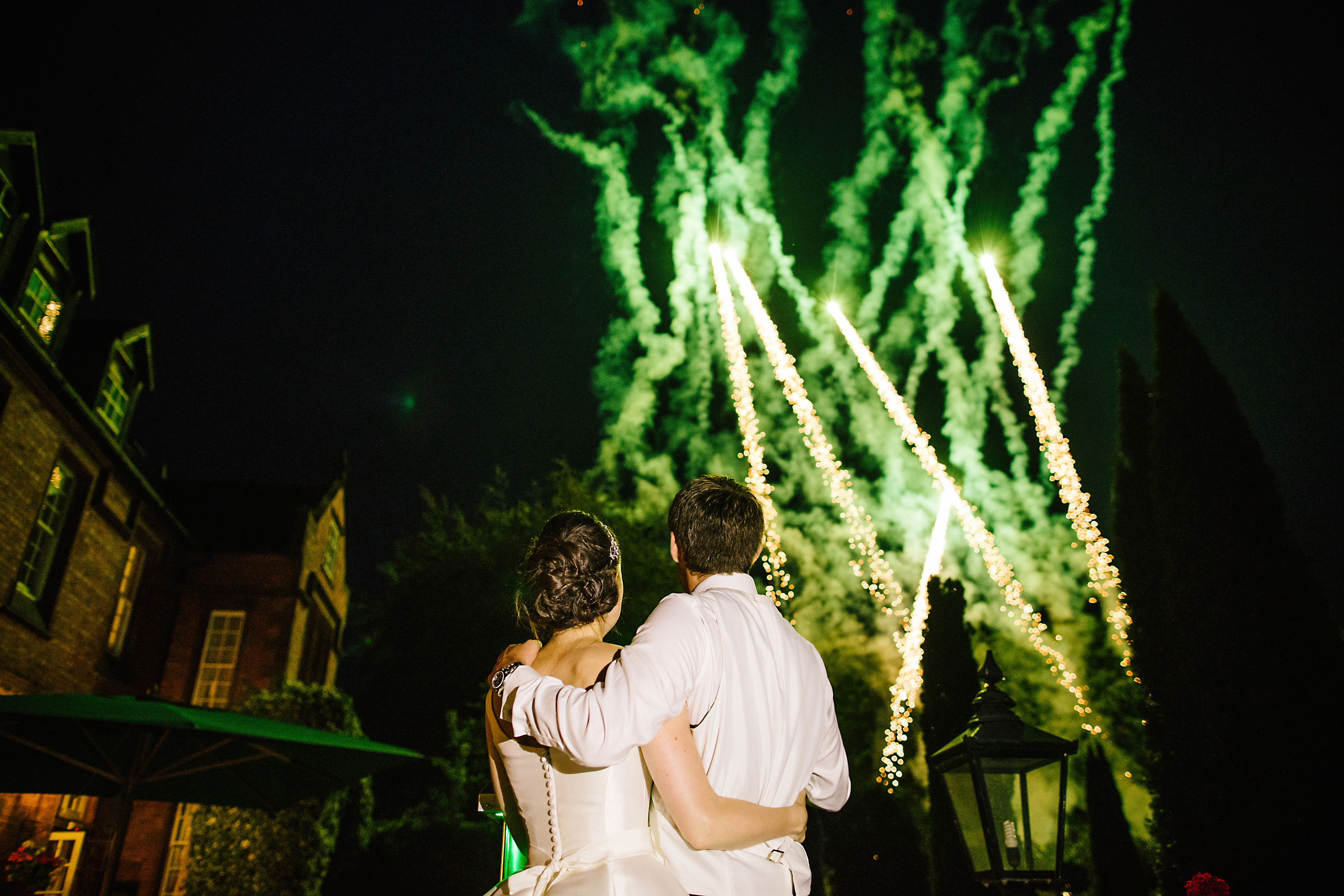 nunsmere hall wedding firework display