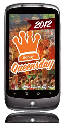 Koninginnedag App op de Android telefoon