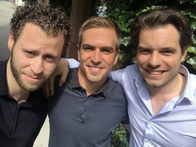Philipp Lahm, Alan Sternberg und Fabian Schmidt ©Bits & Pretzels