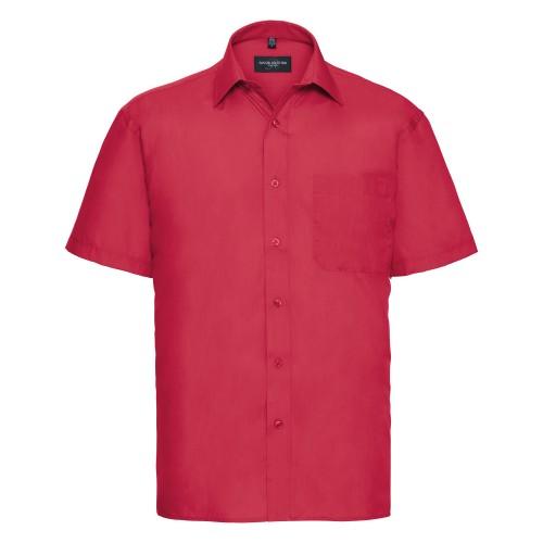 Russell - Camicia Manica Corta in Popeline Classica da Lavoro - Uomo