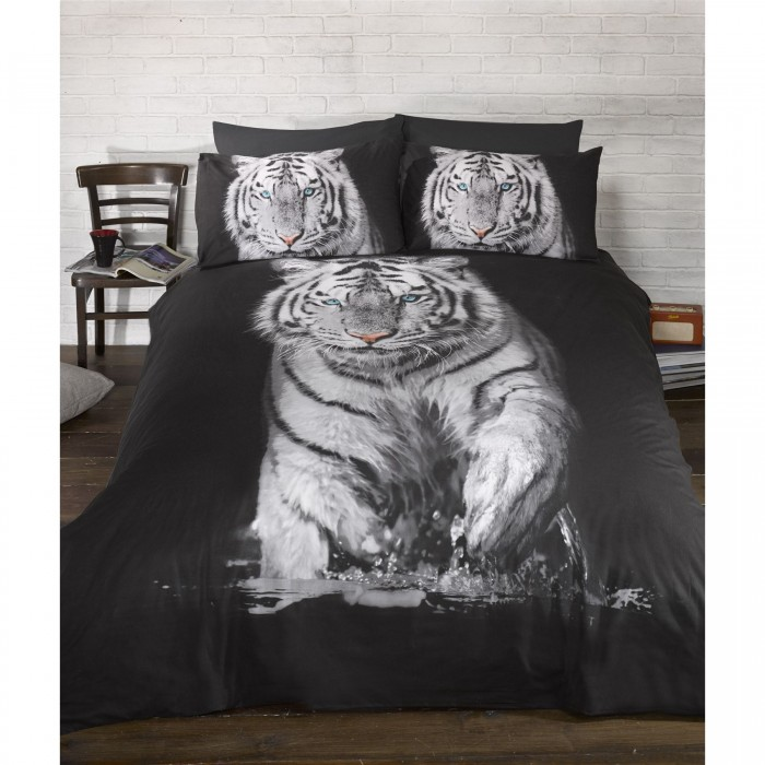 parure de lit motif tigre ebay. Black Bedroom Furniture Sets. Home Design Ideas